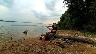 Замечательная рыбалка и отдых с ночевкой. Ловим фидером на Рузском водохранилище.