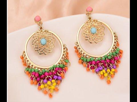 Bauble Bar Flamenco Drop Earrings Designs || Metallic Drop Earrings models