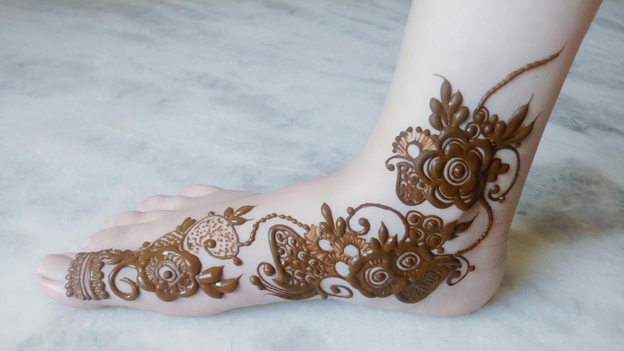 Mehndi Ankle Instagram : Eid special henna design #4 for leg. youtube