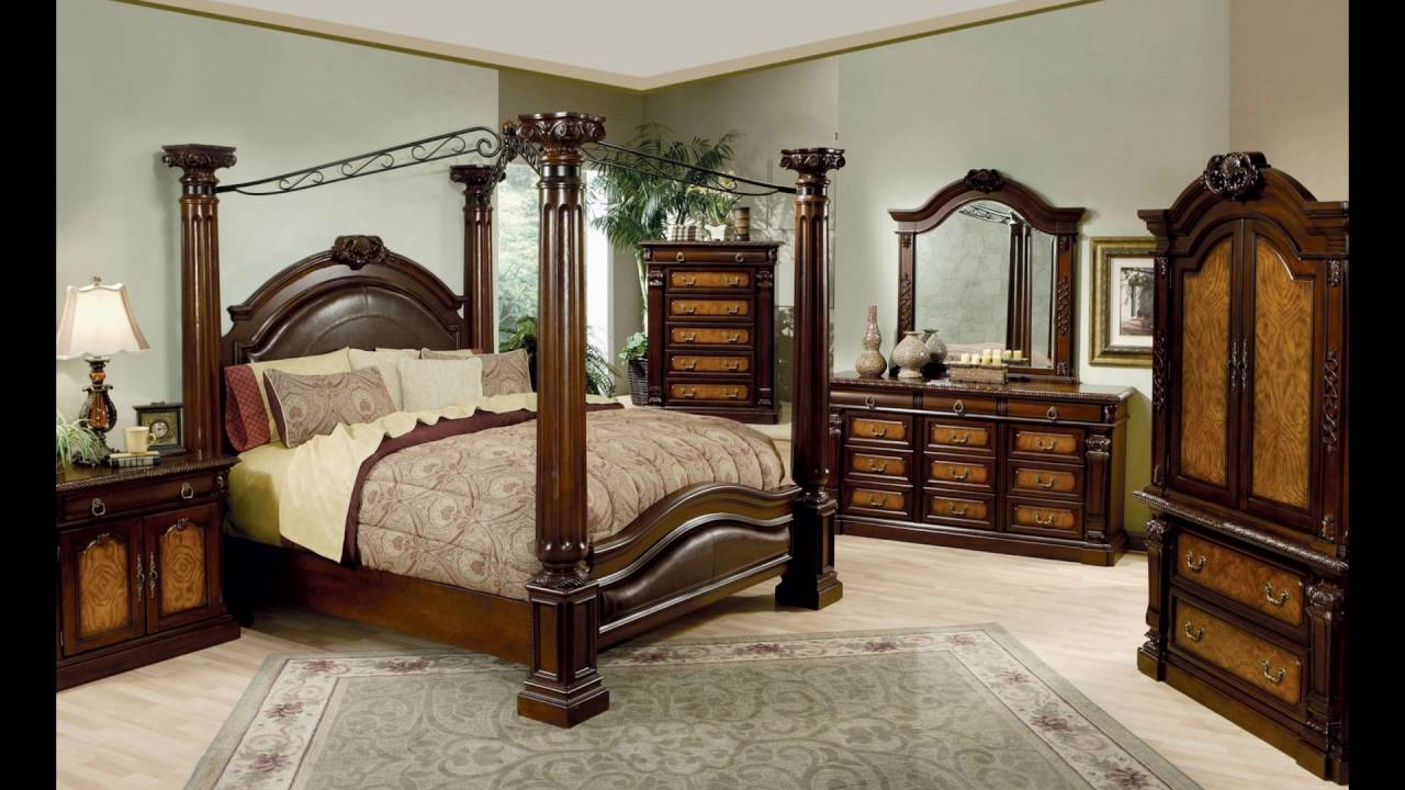 King Canopy Bedroom Sets canopy bed frame ideas - youtube