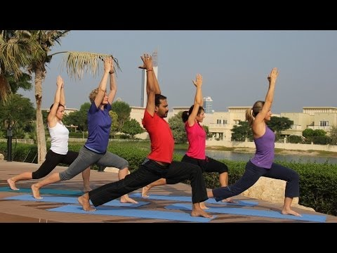 Yoga Dubai - Business Bay - Emirate Hills - Old Town - Down Town - Mantra Fitness Club - with Shaji