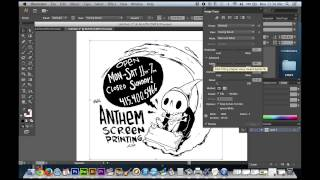 Photoshop for Screen Printing - Converting to Vector, Font Types, Rasterizing