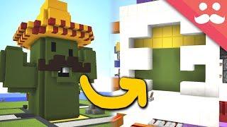 Making a BUMBO CACTONI Door in Minecraft