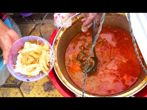 Asian Street Food, Fast Food Street in Asia, Cambodian Street food #259