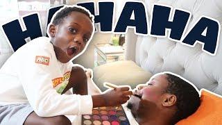 Makeup Prank On Dad (Very Funny)