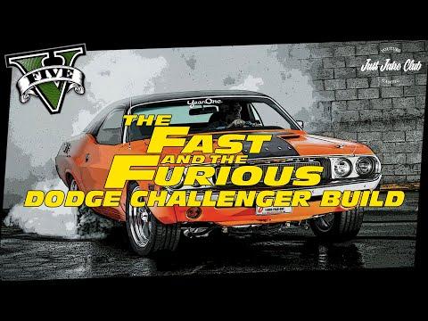 2 Fast 2 Furious Dodge Challenger R/T Movie Car Build Tutorial: GTA 5 (GAUNTLET CLASSIC)