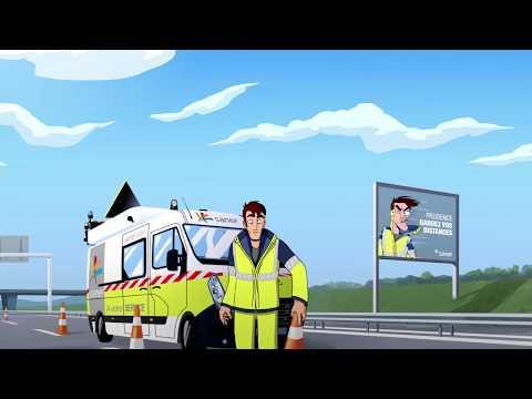 Sur autoroute  : prudence gardez vos distances !