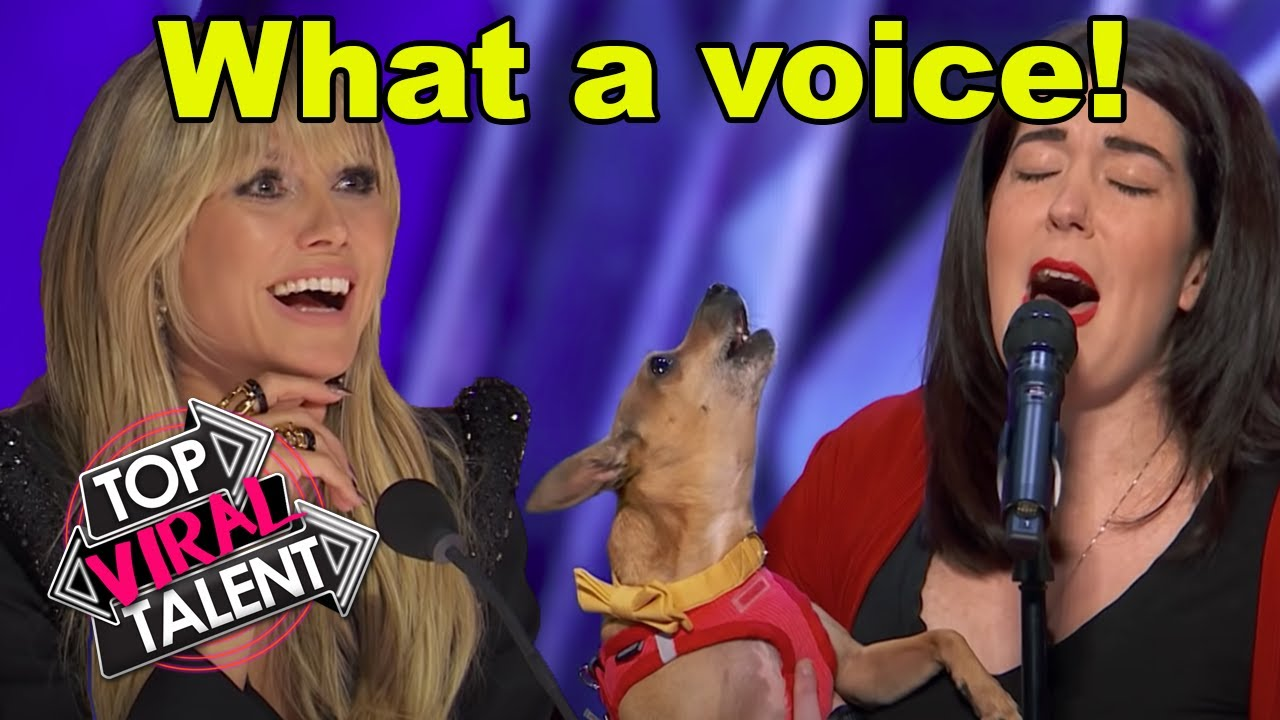 A DOG THAT SINGS?! PITCH PERFECT PUPPY Auditions on AMERICA'S GOT TALENT 2021