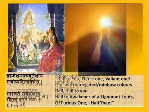 Full Aditya Hrudayam Stotram in Devanagari Sanskrit English translations.wmv