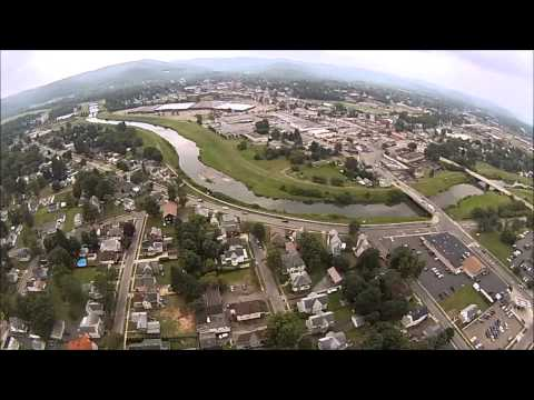 GoPro Hero 3 on  650 Quadcopter- FPV over Olean, NY