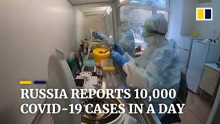 Russia's coronavirus infections hit a single-day record high