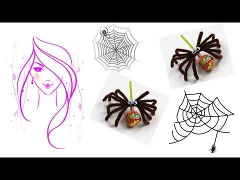 MORENA DIY: HOW TO MAKE SPIDER LOLLIPOPS