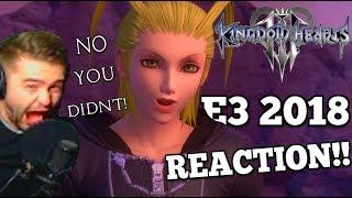 Kingdom Hearts 3 E3 2018 Trailer Reaction || FROZEN! LARXENE!! AQUANORT!!! ujiwef0o23!!!!