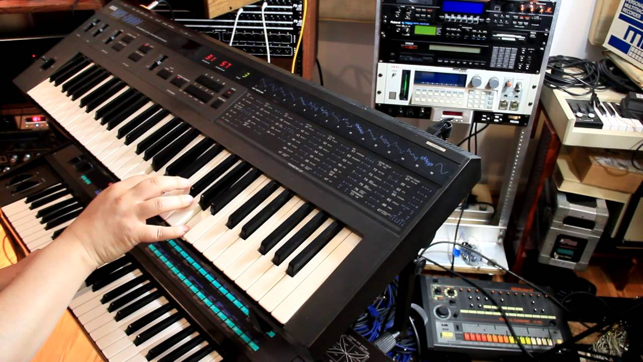DW-8000, DX7 and LinnDrum ditty 2 - YouTube