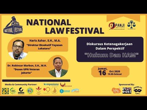 NATIONAL LAW FESTIVAL 2020 Diskursus Ketenagakerjaan Dalam Perspektif \