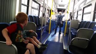 Riding the accordion bus