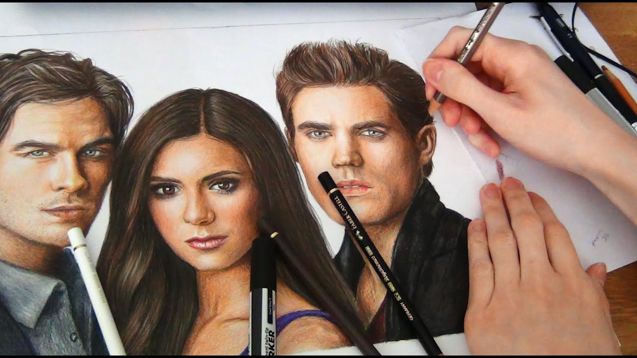 Drawing the vampire diaries