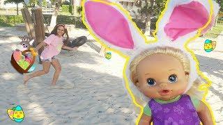 Caça aos Ovos! Boneca Baby Alive Bia Bagunça e Bela na Páscoa  | DisneySurpresa