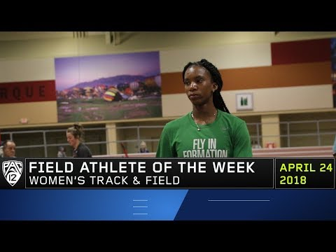 Oregon's Chaquinn Cook claims Pac-12 Women's Field Athlete of the Week accolades