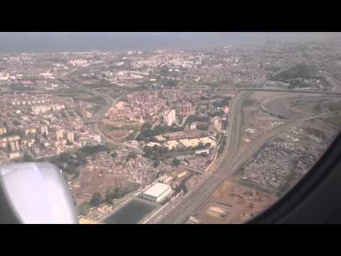 Landing in Algiers Lufthansa  Airbus A320
