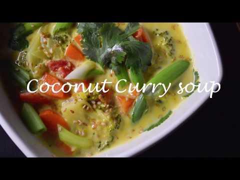 Vegan Coconut Curry Soup