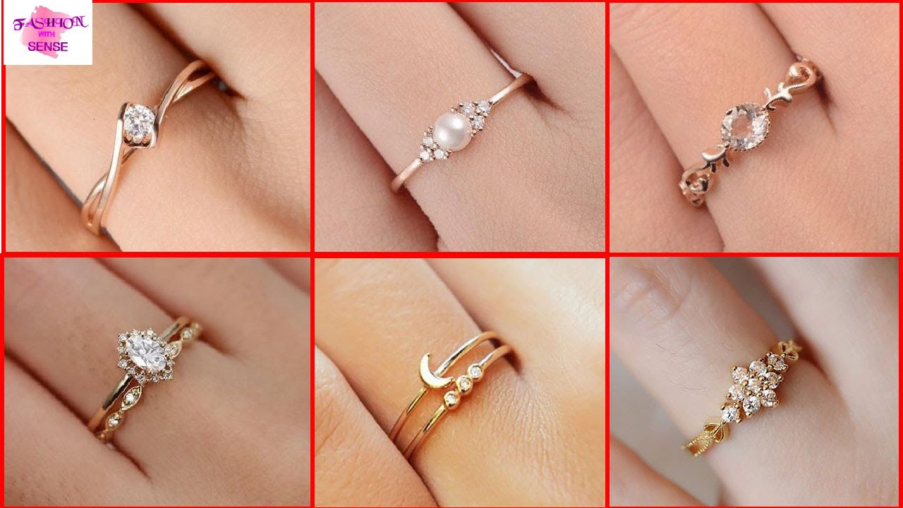 Simple Pure Gold Engagement Ring Design 2020 Latest Gold Rings Collection For Girls 2020 Youtube