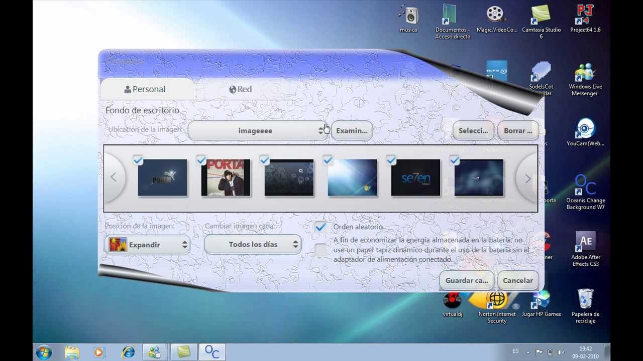 Como cambiar el fondo de escritorio de windows 7 starter youtube - Como cambiar fondo de escritorio windows 7 starter ...