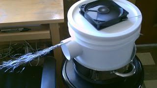 "Homemade AC - The ""2 Gallon Bucket"" Space Cooler! - Can be Solar Powered! - Easy DIY"