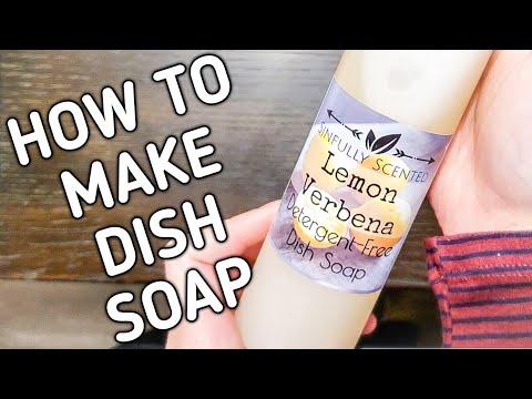 HOW TO MAKE LIQUID SOAP   MAKING DIY DISH SOAP