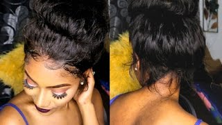 QUICK EASY Messy Top Bun w/ 360 Lace Wig ft. RPGHair.com