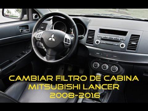cambiar filtro de cabina de mitsubishi lancer youtube
