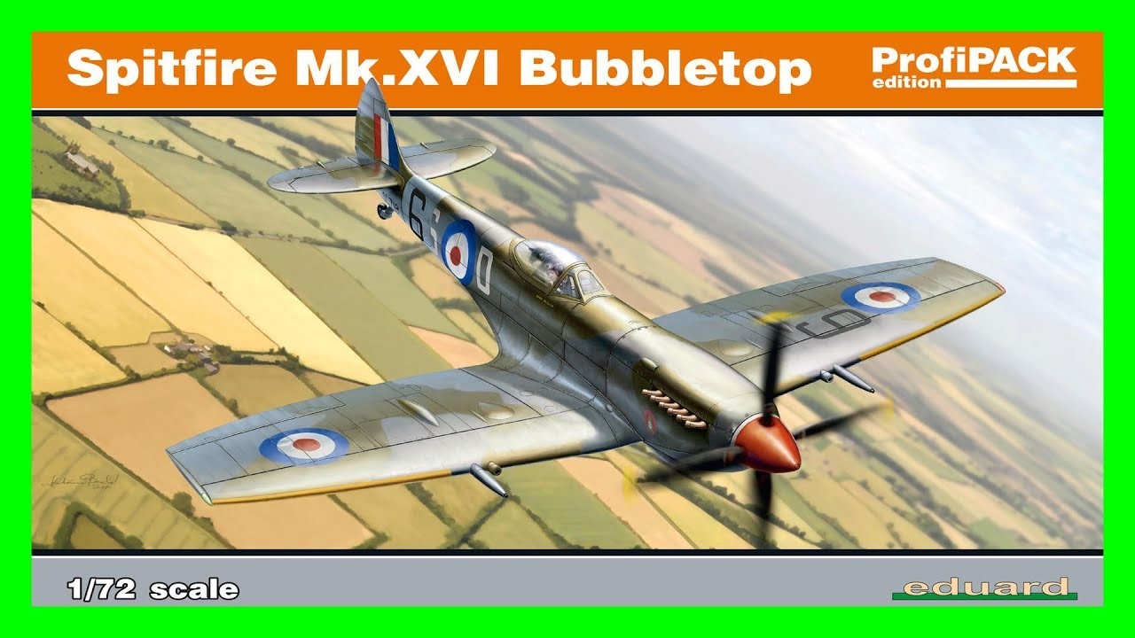 5148ec1ce48 Quick look at: Eduard Spitfire Mk.XVI Bubbletop 1:72 - YouTube