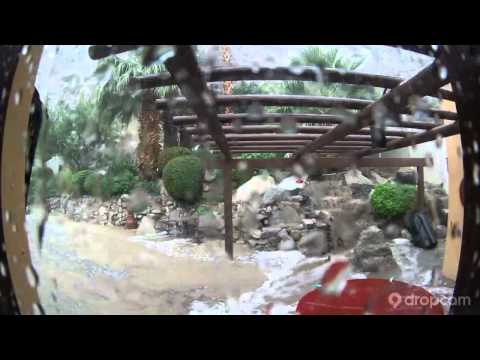 SEPT 8 2014 FLOOD at INDIAN WELLS, CA. COUNTRY CLUB DESI DRIVE