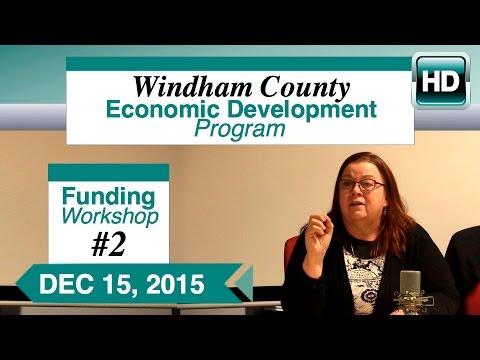 WCEDP Funding Workshop 2: Business Loan Application 12/15/15