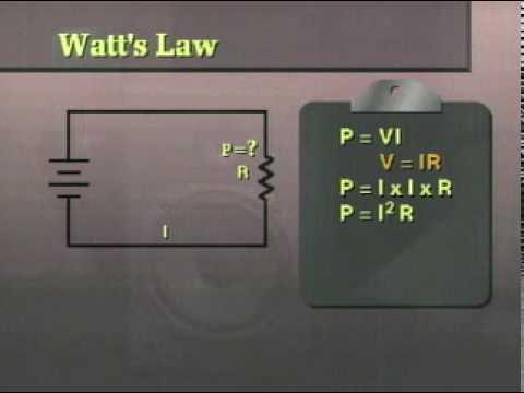 DC Electronics Theory Lesson 6 Segment 4C - Watt's Law