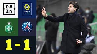 Punkteteilung bei Mauricio Pochettinos PSG-Debüt: St. Etienne - PSG 1:1 | Ligue 1 | DAZN Highlights