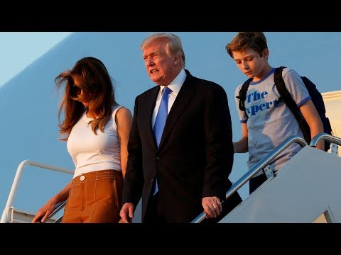 Melania and Barron Trump move to White House