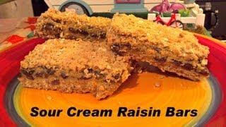 Sour Cream Raisin Bars