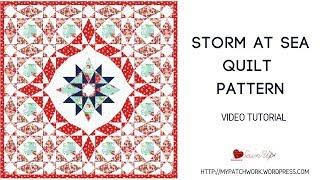 Storm at sea quilt video tutorial
