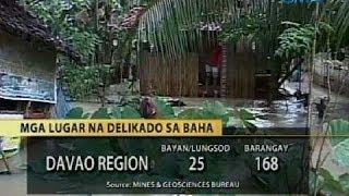 UB: Maraming lugar sa CARAGA at Davao Region, delikado sa pagbaha at pagguho ng lupa