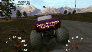 Microsoft Monster Truck Madness 2 gameplay (Farm Road 109)