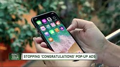 Stopping congratulations pop up ads
