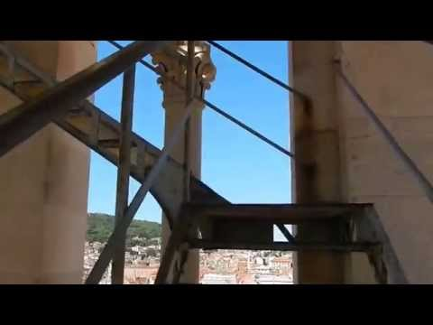 Climbing to the Top of the Belfry of Saint Domnius in Diocletian Palace in Split, Croatia