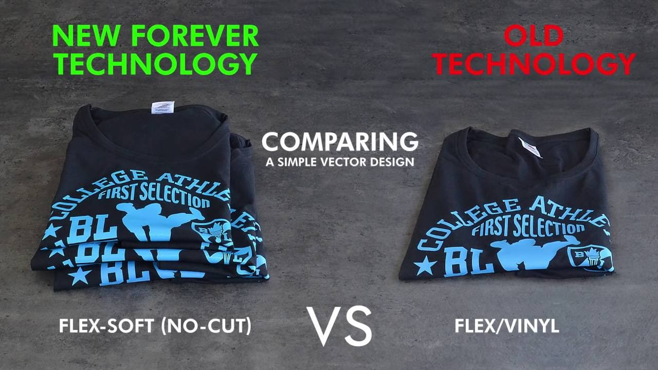 Flex Soft No Cut Vs Flex Vinyl Print 3 Fsnc T Shirts