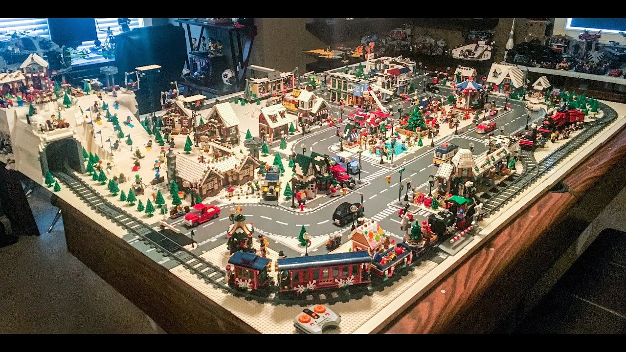 lego christmas village and ski resort 2017 update