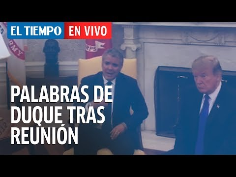 Palabras de Duque tras reunión con Trump