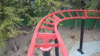Road Runner Express Kid's Roller Coaster HD POV Six Flags Magic Mountain