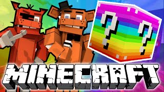 Minecraft: Five Nights at Freddy's RAINBOW Lucky Block Challenge!
