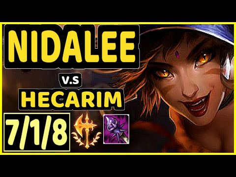 KIREI (NIDALEE) vs HECARIM - 7/1/8 KDA JUNGLE CHALLENGER GAMEPLAY - EUW