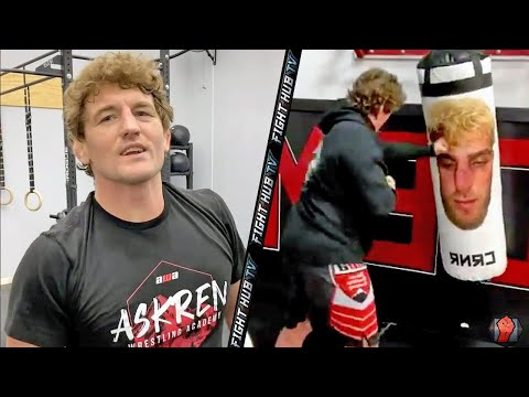 BEN ASKREN LEAKS BOXING TRAINING VIDEO; TROLLS JAKE PAUL WITH HIS FACE ON HEAVY BAG